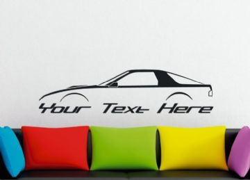Large Custom car silhouette wall sticker - for Mazda RX7 , FC coupe |  classic rotary Turbo